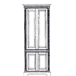 Top and base straight panel door